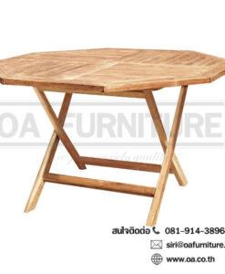 โต๊ะพับไม้สัก TGE-120F