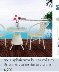 ชุดโต๊ะน้ำชาหวายเทียมรุ่น สกาย ทู / SKY II