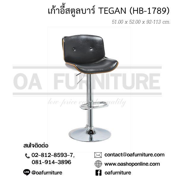 เก้าอี้สตูลบาร์ TEGAN (HB-1789)