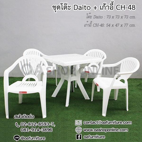 เก้าอี้พลาสติก CH-48