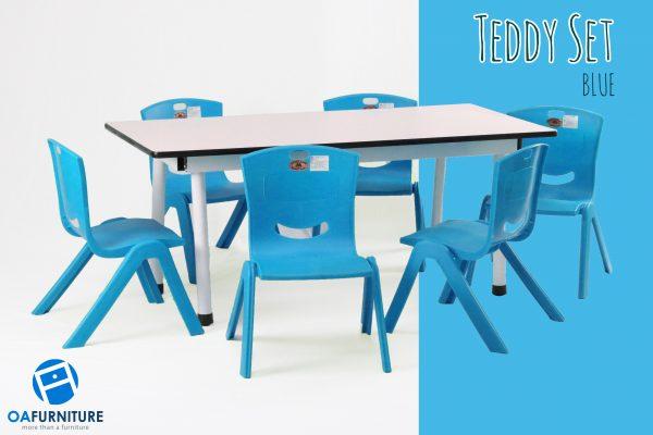 ชุดโต๊ะ เก้าอี้เด็ก Teddy Set_ฺBlue